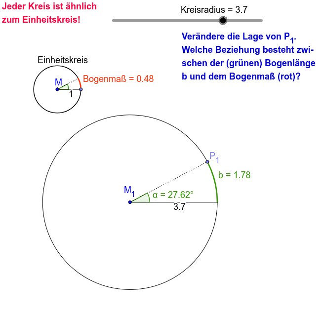 Winkel messen mit dem Bogenmaß