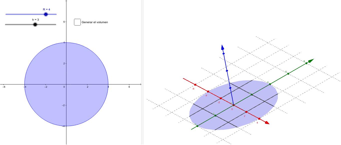 Calculamos integrando secciones parabólicas