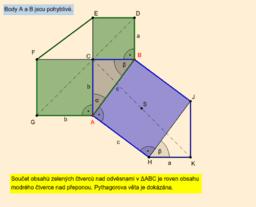 Pythagorova věta - důkaz Leonarda da Vinci