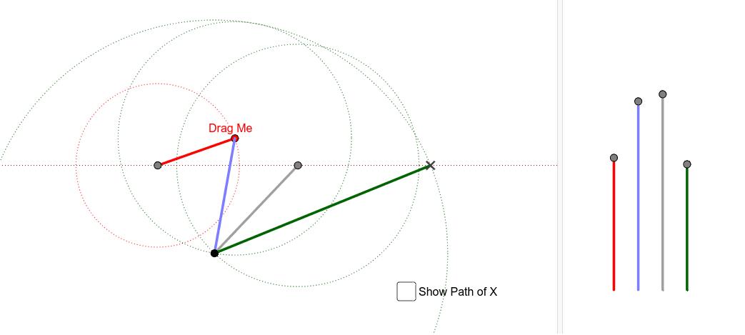 Crossed-link quick-return mechanism. Press Enter to start activity