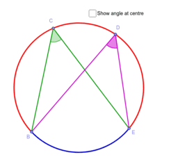 Circle Theorem 3 - angles on t…