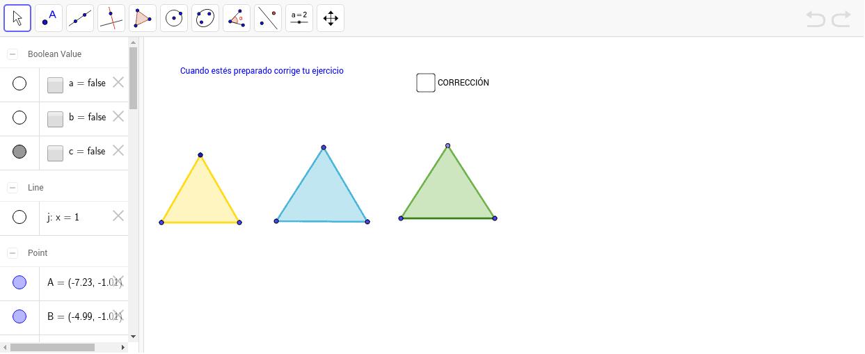 Clasificación de triángulos según sus lados Presiona Intro para comenzar la actividad