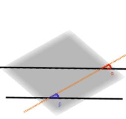 평행한 직선과 한 점에서 만나는 직선 3차원으로 관찰하기
