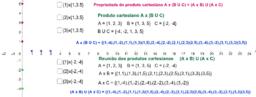 Produto cartesiano A x (B U C) = (A x B) U (A x C)