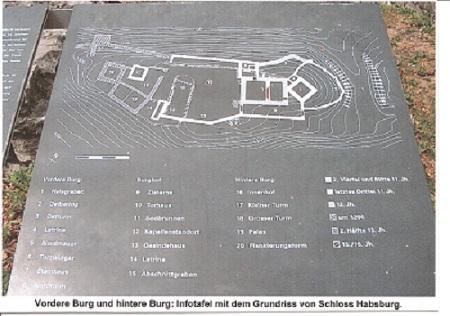 Grundriss Schloss Habsburg