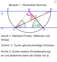 Rückwärts Rechnen (1)