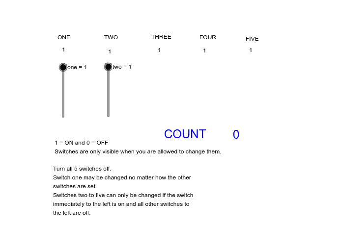 What is the minimum number of moves to turn all five switches OFF?