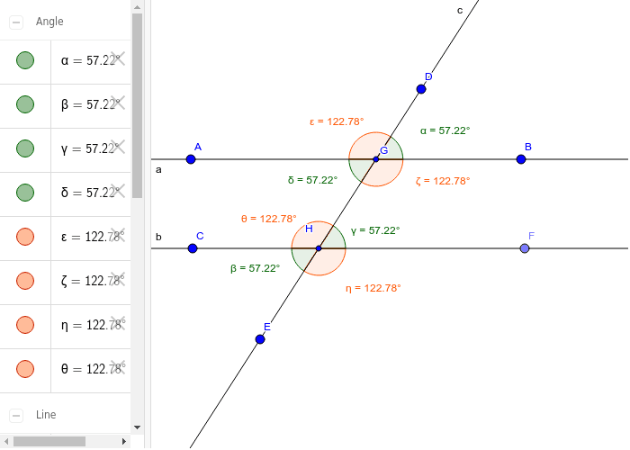 Angles and Transversals