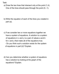 Linear Systems Task