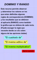 Dominio y Rango (ejemplos)