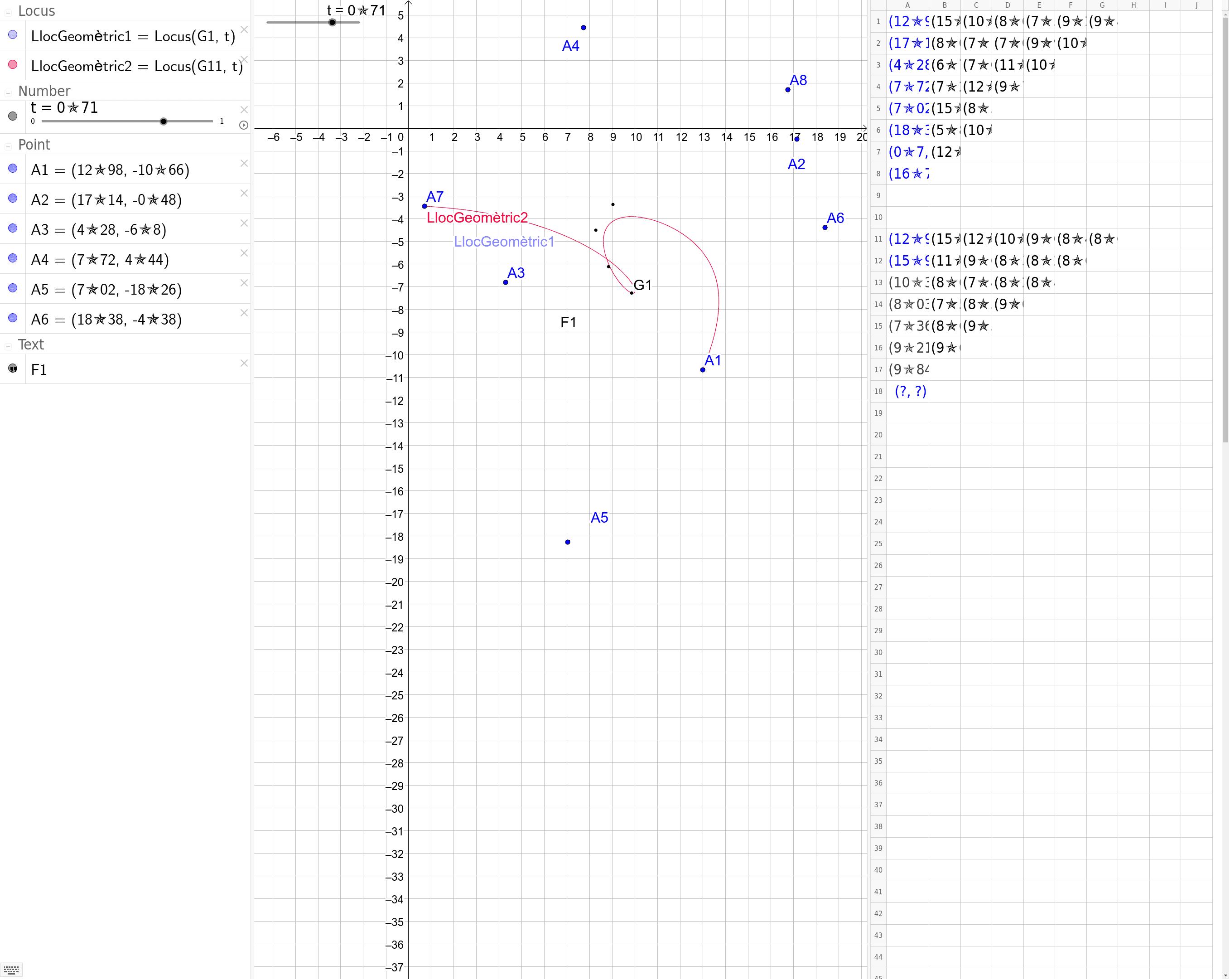 """Corbes de Bézier """"a la  Excel"""""""