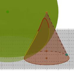 Intersecció d'un con i d'una esfera