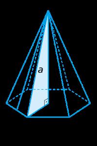 aresta lateral relacionado à altura e raio