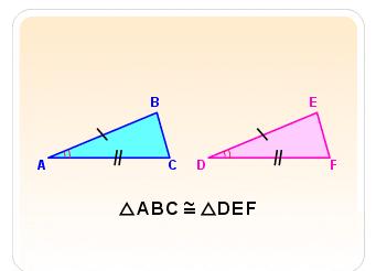 AB = ED <BAC = <EDF AC = DF