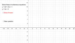 Randomized quadratic simultaneous equations