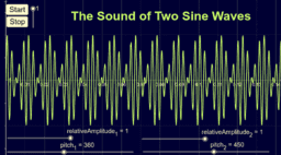 The sound of two sine waves