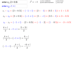 Complex number operations, Tom Owsiak
