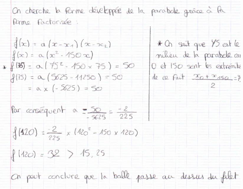 Une solution avec la forme factorisée