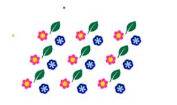 В цветочек