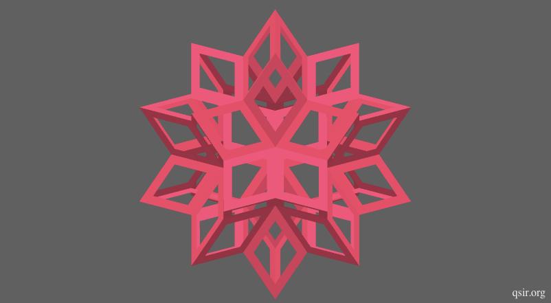 镂空菱形六十面体