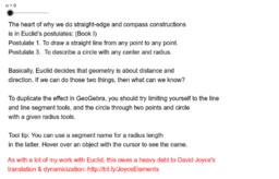 Euclid's Construction Exercises (Book I)