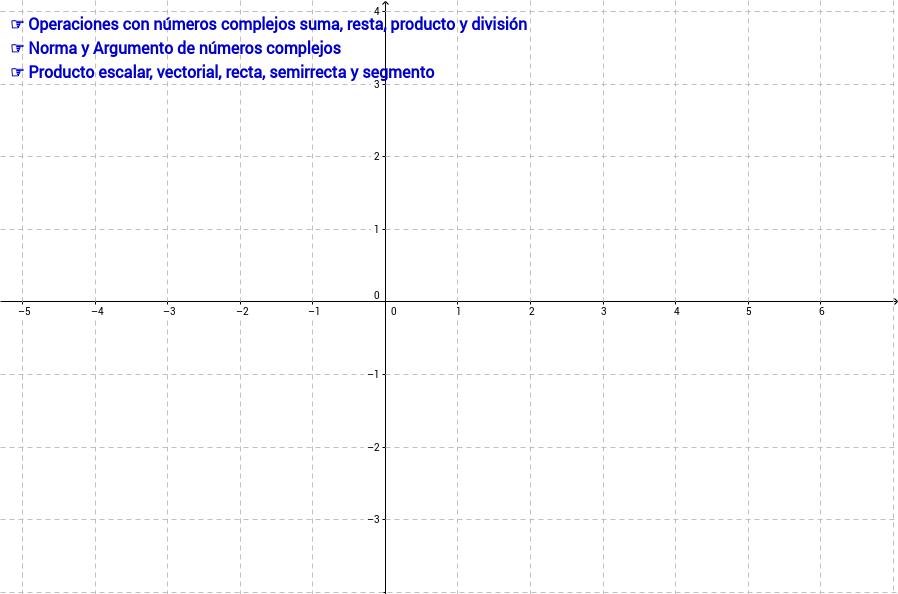 Operaciones con complejos y estrura vectorial y métrica