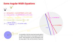 Angular Width Equations