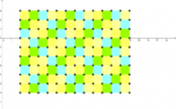 1) Square tessellation