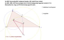Egyenlőszárú háromszög - bizonyítás