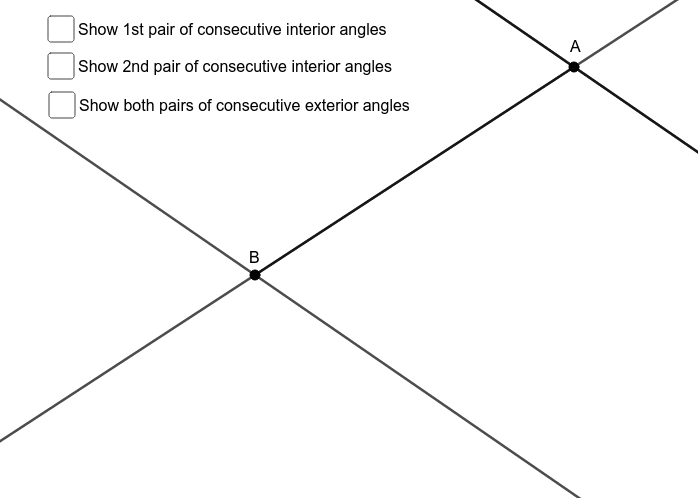 Interior angles of parallel lines Press Enter to start activity