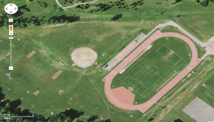 Le terrain de baseball au Parc Ben Leduc
