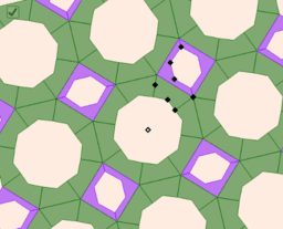 Islamic Tessellation on Octagons and Squares