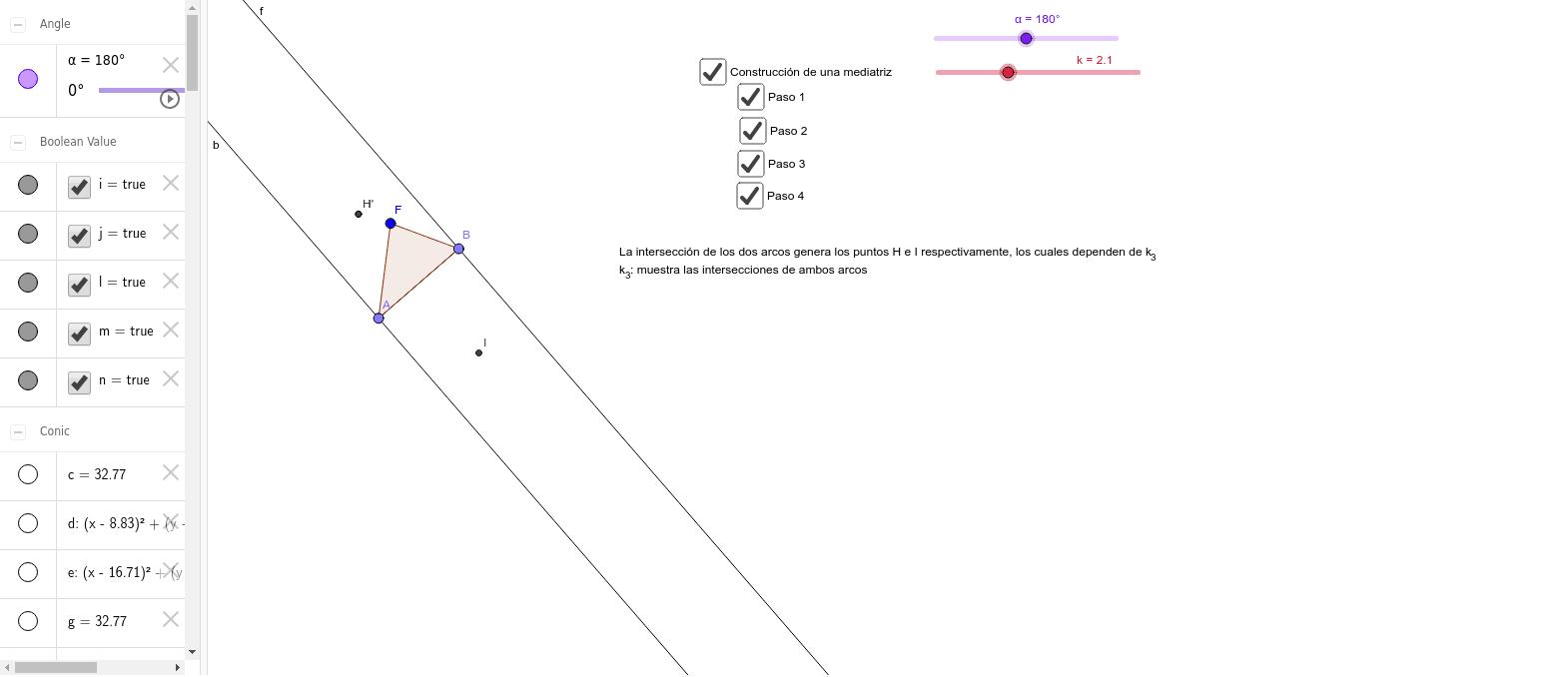 Circunferencia circunscrita Presiona Intro para comenzar la actividad