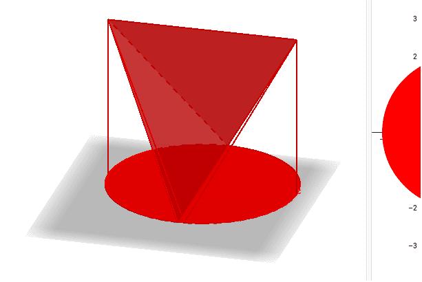 黄金立体とは正面図は長方形、側面図は正三角形、平面図は円となる立体。これが一番体積が大きい形なのだろうか? ワークシートを始めるにはEnter キーを押してください。