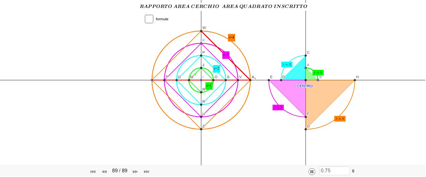 corretto nell'ultima parte: rapporto tra diametro e diagonale del triangolo inscritto. 12.10.2019 Premi Invio per avviare l'attività