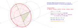 Determinando uma Elipse dados um foco, um vértice e o eixo menor