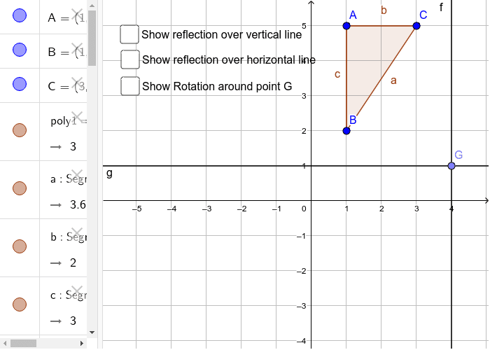 Reflection over two lines and Rotation about a point.