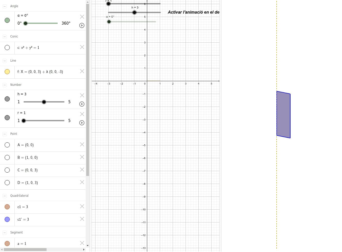 cos generat per rotació d'un rectangle