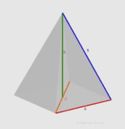 Größen in einer quadratischen Pyramide