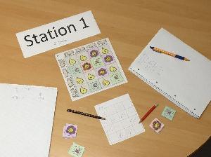 Station 1: Magischer Blumengarten
