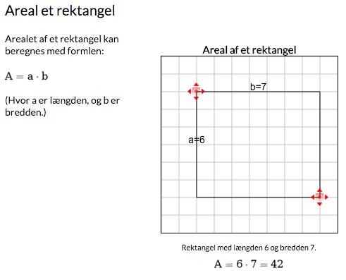 Areal af rektangel