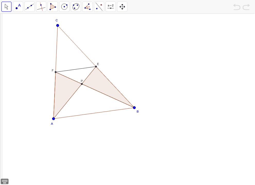 Preskúmajte vzťah medzi trojuholníkmi APF a BPE. Zdôvodnite svoje zistenie.