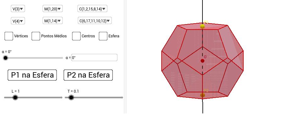 Use o botão direito do mouse para girar a cena 3D (clique e arraste).