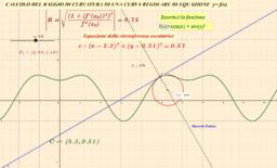 CALCOLO DEL RAGGIO DI CURVATURA DI UNA CURVA REGOLARE. Equazione della circonferenza osculatrice