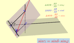 Формула трьох синусів для двогранного кута
