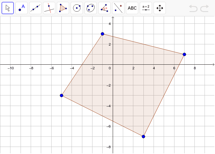 Determine the midpoints of each side.  Draw the quadrilateral formed by the midpoints. Press Enter to start activity