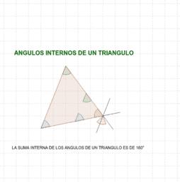 SUMA DE ÁNGULOS INTERNOS DE UN TRIANGULO