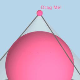 Sphere Inscribed Inside a Right Circular Cone