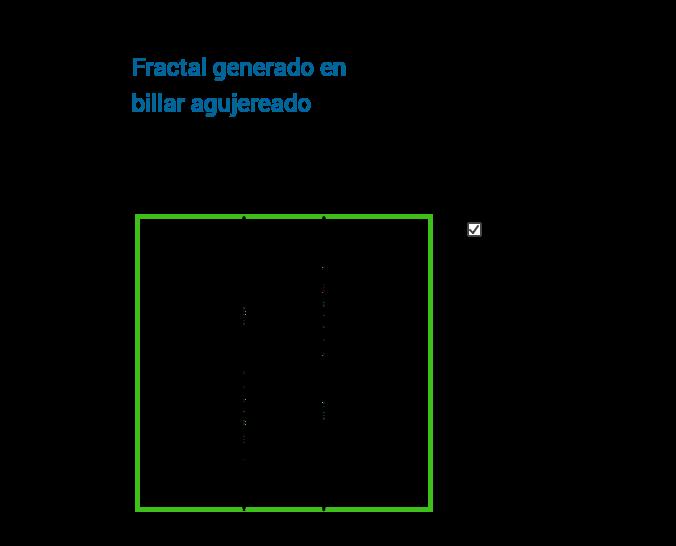 Fractal generado en billar elíptico agujereado
