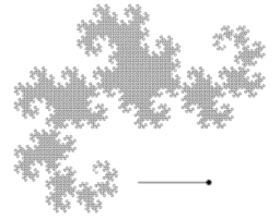 Gaussian Semi-Circular Dragon Curve